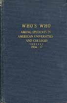 Thumbnail image of Who's Who Among American Students 1937 cover