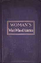 Thumbnail image of Woman's Who's Who of America 1914-1915 cover