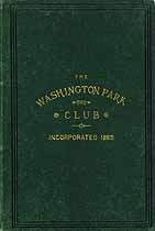 Thumbnail image of Washington Park Club, Chicago 1886 cover