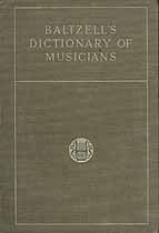 Thumbnail image of Baltzell's Dictionary of Musicians 1917 cover