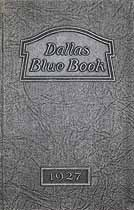 Thumbnail image of Dallas Blue Book of 1927 cover