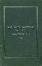 Thumbnail image of Saint Johns Commandery 1900 K. T. Roster cover