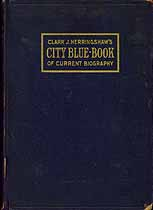 Thumbnail image of City Blue Book of Current Biography: Chicagoans of 1915 cover