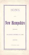 Thumbnail image of Sons of New Hampshire 1894 Roster cover