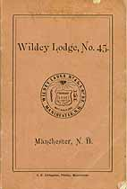 Thumbnail image of Wildey Lodge, No. 45, I.O.O.F. cover