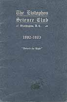 Thumbnail image of The Eistophos Science Club 1902-1903 Program cover
