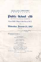 Thumbnail image of Public School 186 N.Y.C. 1917 Commencement cover