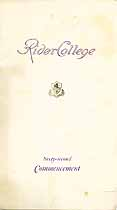 Thumbnail image of Rider College 1927 Commencement cover