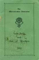 Thumbnail image of The Worcestershire Association 1932 Year Book cover