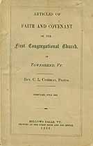Thumbnail image of Townsend First Congregational Church 1866 Members cover