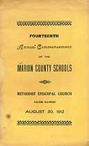 Thumbnail image of Marion County Schools 1912 Commencement cover