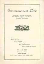 Thumbnail image of Fowler High School 1929 Commencement cover