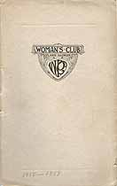 Thumbnail image of Plano Woman's Club Year Book 1918-1919 cover