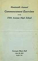 Thumbnail image of Fifth Avenue High School 19th Commencement cover