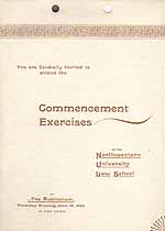 Thumbnail image of Northwestern Univ. Law School Commencement cover