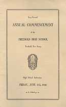 Thumbnail image of Freehold High 1938 Commencement cover