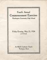 Thumbnail image of Washington High 1924 Commencement cover