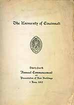 Thumbnail image of University of Cincinnati 34th Commencement cover