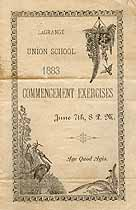 Thumbnail image of LaGrange Union School 1883 Commencement cover