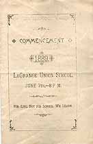 Thumbnail image of LaGrange Union School 1889 Commencement cover