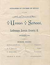 Thumbnail image of LaGrange Union School 1888 Course Outline cover
