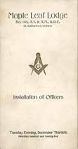 Thumbnail image of Maple Leaf Lodge 1925 Officers cover