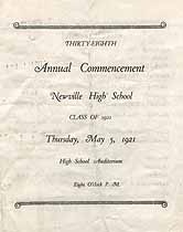 Thumbnail image of Newville High School 1921 Commencement cover