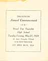 Thumbnail image of Broad Top High School 1924 Commencement cover