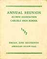 Thumbnail image of Carlisle High School 1922 Annual Reunion cover