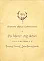 Thumbnail image of Warner High School 1919 Commencement cover