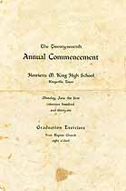Thumbnail image of H. M. King High 1936 Commencement cover