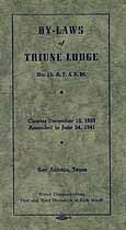 Thumbnail image of Triune Lodges, No. 15 By-Laws for 1941 cover