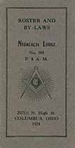 Thumbnail image of Neoacacia Lodge 1924 Roster and By-Laws cover