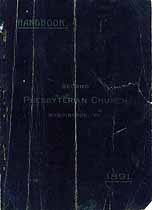 Thumbnail image of Washington Second Presbyterian Church 1891 Handbook cover