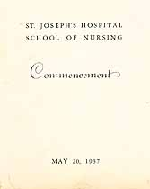Thumbnail image of St. Joseph's Hospital Nursing School 1937 Commencement cover