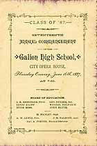 Thumbnail image of Galion High School 1887 Commencement cover