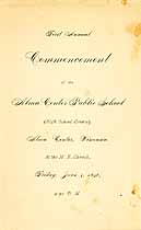 Thumbnail image of Alma Center School 1896 Commencement cover
