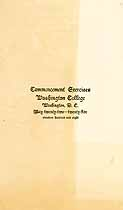 Thumbnail image of Washington College 1908 Commencement cover
