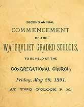 Thumbnail image of Watervliet Graded Schools 1891 Commencement cover