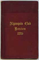 Thumbnail image of The Algonquin Club 1889 Members cover