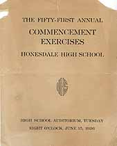 Thumbnail image of Honesdale High 1926 Commencement cover