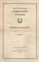 Thumbnail image of Honesdale High 1931 Commencement cover