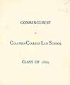 Thumbnail image of Columbia College 1889 Law School Commencement cover