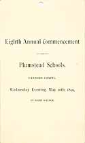Thumbnail image of Plumstead Schools 1899 Commencement cover
