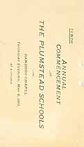 Thumbnail image of Plumstead Schools 1901 Commencement cover