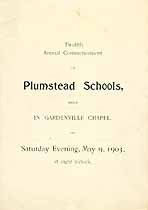 Thumbnail image of Plumstead Schools 1903 Commencement cover