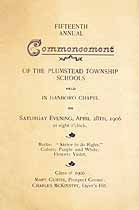 Thumbnail image of Plumstead Schools 1906 Commencement cover