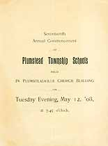 Thumbnail image of Plumstead Schools 1908 Commencement cover