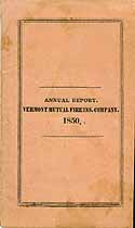 Thumbnail image of Vermont Mutual Fire 1850 Insurance Report cover