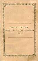 Thumbnail image of Vermont Mutual Fire 1851 Insurance Report cover